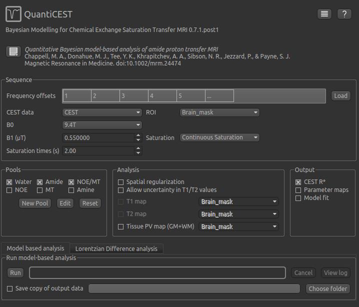 QuantiCEST Tutorial — Quantiphyse documentation